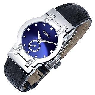 Madison - Ladies' Black Round Dial Diamond Watch - Versace