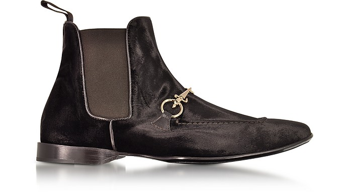 Dark Brown Velvet Boots - Cesare Paciotti