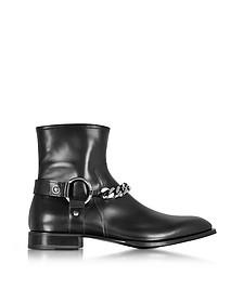 Black Baby Horse Boots w/Chain - Cesare Paciotti