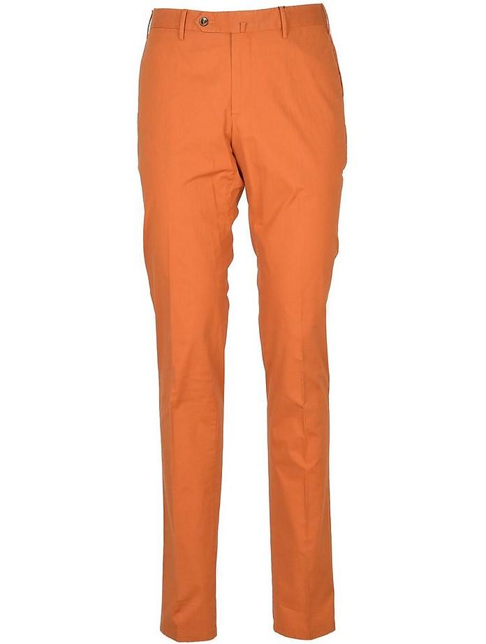 Pt Torino Cottons Men's Orange Pants