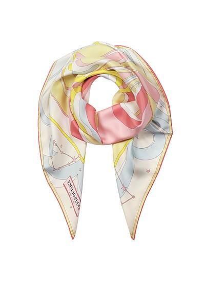 Multicolor Signature Print Silk Square Scarf - Emilio Pucci