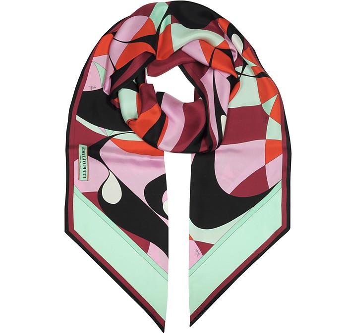 Alex Two-Tone Abstract Print Silk Stole - Emilio Pucci