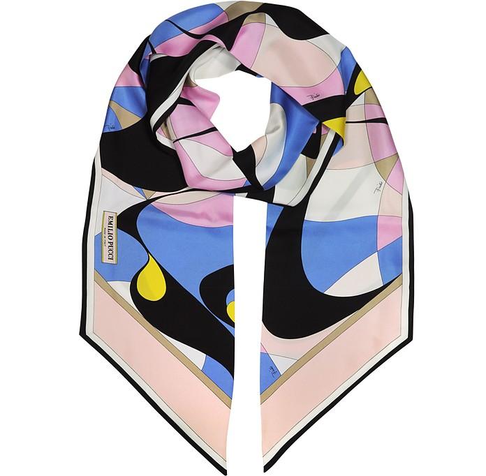 Двухцветный Шелковый Палантин с Абстрактным Принтом - Emilio Pucci