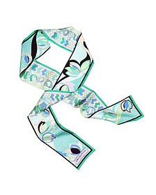 Printed Silk Bandana Necktie  - Emilio Pucci