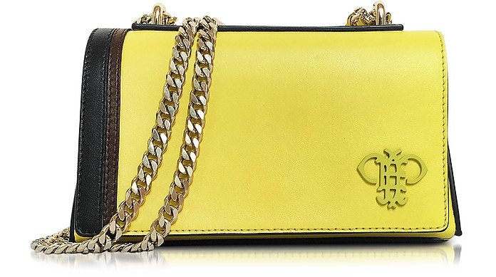 Chartreuse Leather Shoulder Bag w/Chain Strap - Emilio Pucci
