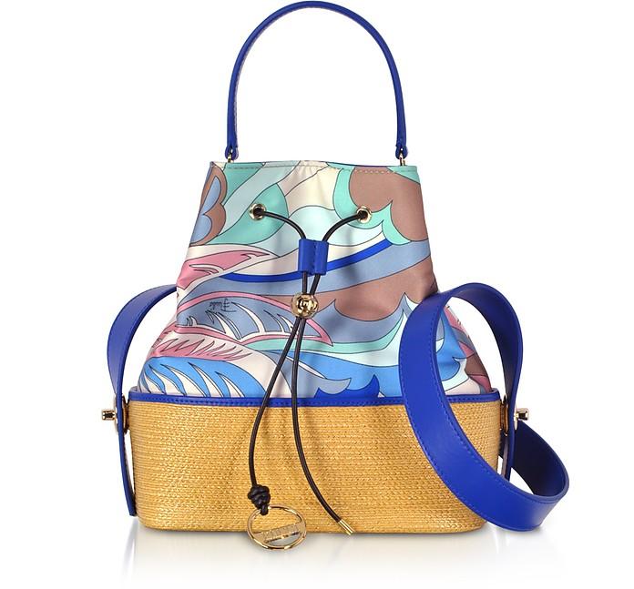 Viscose and Cotton Bucket Bag - Emilio Pucci