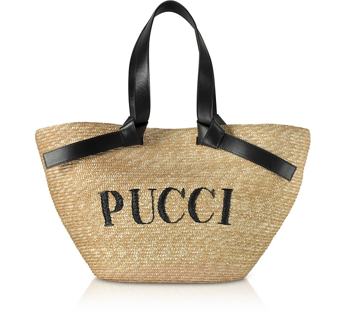 Raffia Signature Bucket Bag - Emilio Pucci