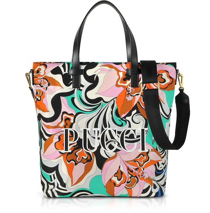 Shopper aus bedrucktem Canvas mit Logo - Emilio Pucci
