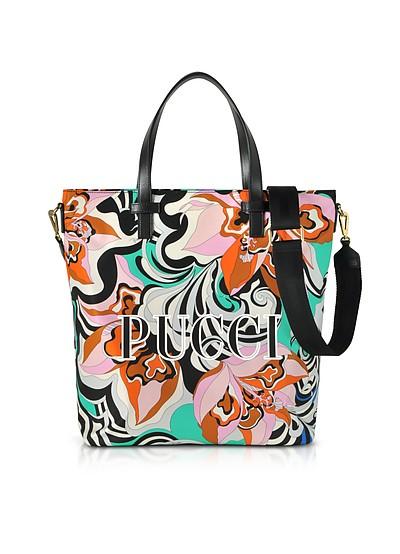 Signature Printed Canvas Tote Bag - Emilio Pucci