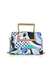 Printed Silk Shoulder Bag w/Metal Handles - Emilio Pucci