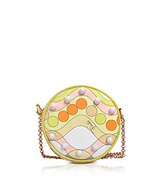 Printed Eco Leather Round Purse w/Chain Strap - Emilio Pucci
