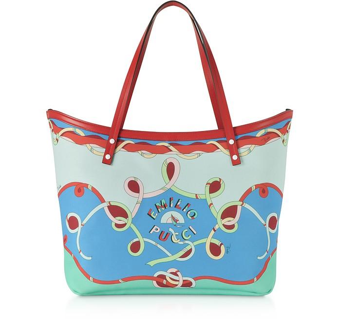 Cornflower Tote Bag w/Pouch - Emilio Pucci