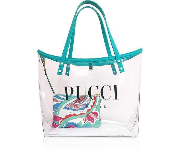 Transparent Signature Tote Bag w/pouch - Emilio Pucci