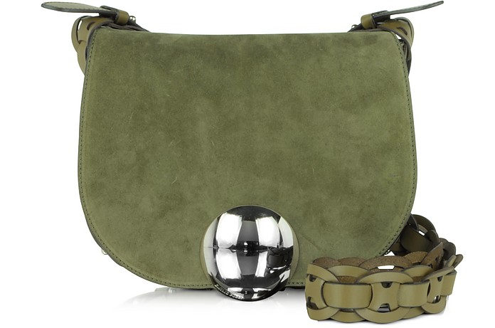 Janis Suede and Leather Crossbody Bag - Emilio Pucci