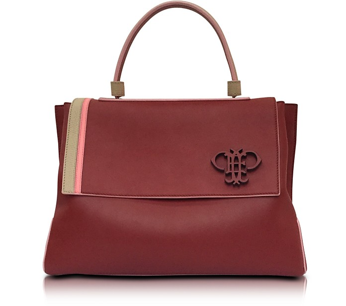 Cognac Leather Satchel Bag - Emilio Pucci