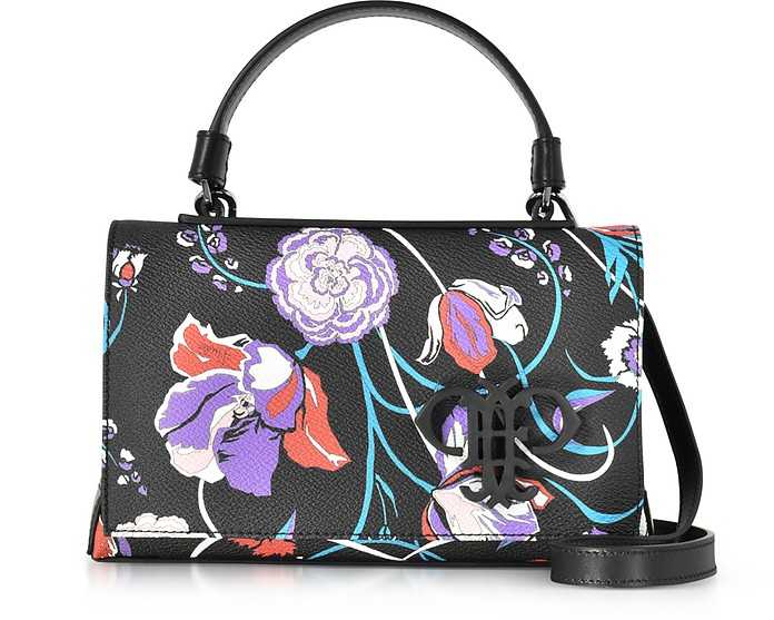 Floral Print Eco Leather Mini Top Handle Bag - Emilio Pucci
