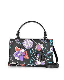 Floral Print Eco Leather Mini Top Handle Bag - Emilio Pucci