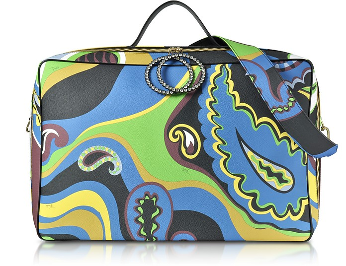 Pervinca Optical Print Oversized Top-Handle Bag - Emilio Pucci