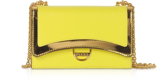 Genuine Leather and Metal Mini Bag - Emilio Pucci
