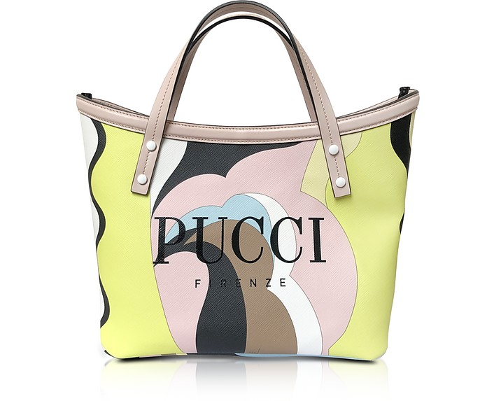 Two Tone Canvas Tote Bag - Emilio Pucci
