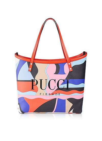 Большая Двухцветная Сумка Tote из Ткани - Emilio Pucci