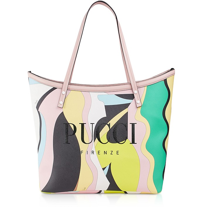 Two Tone Canvas Large Tote Bag - Emilio Pucci