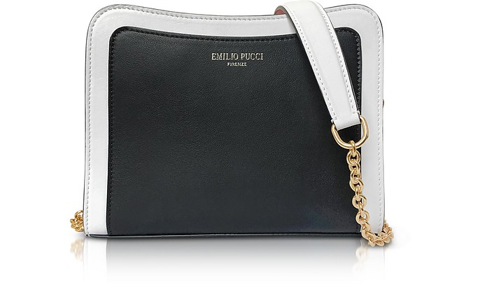 Tri-color Leather Shoulder Bag - Emilio Pucci