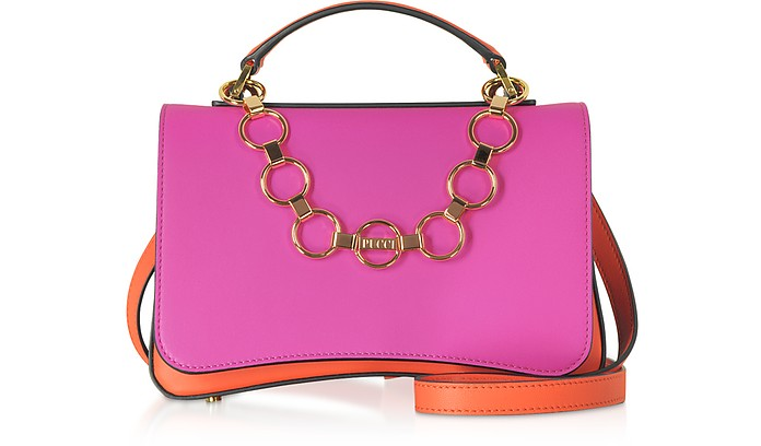 Chance Chain Color Block Leather Satchel Bag - Emilio Pucci