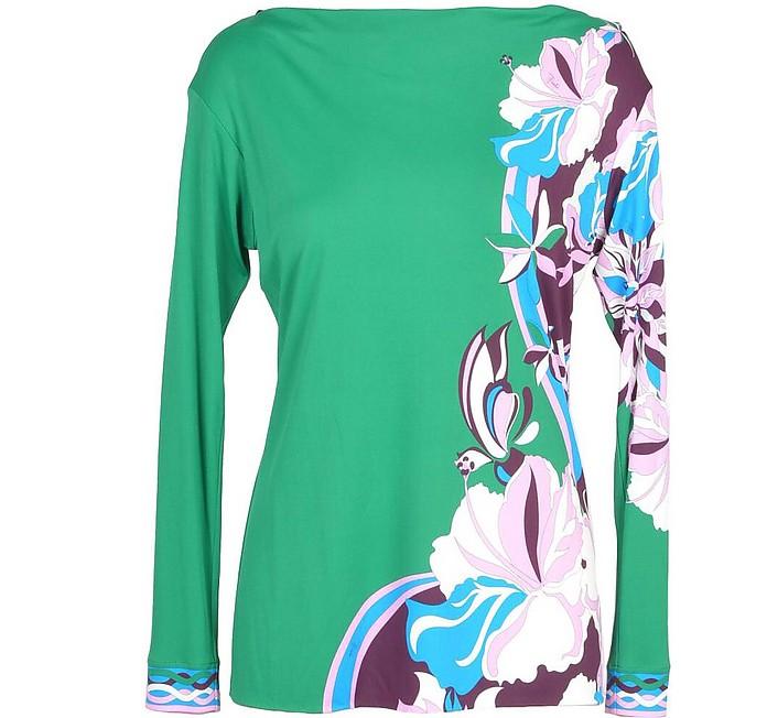 Women's Green T-Shirt - Emilio Pucci