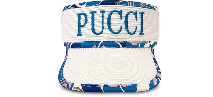 Signature White Women's Tennis Visor - Emilio Pucci
