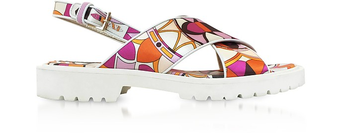 Arenal Print Twill Silk Sandals - Emilio Pucci