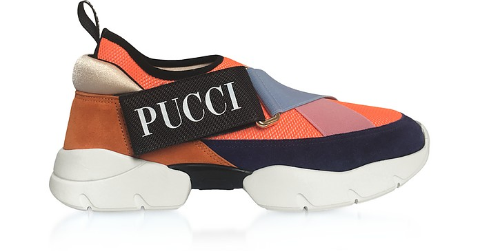 Color Block City-Cross Nylon Sneakers - Emilio Pucci