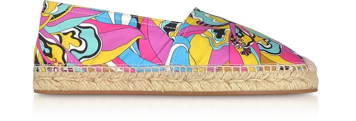 Multicolor Printed Canvas Espadrilles - Emilio Pucci