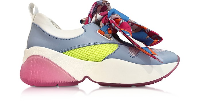 Multicolor Bow Light Blue Sneakers - Emilio Pucci