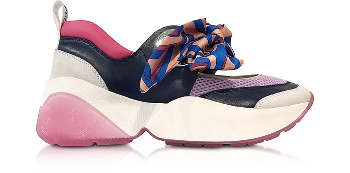 Multicolor Bow Blue and Lilac Sneakers - Emilio Pucci