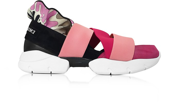 Peonia Pink Suede Sneakers - Emilio Pucci