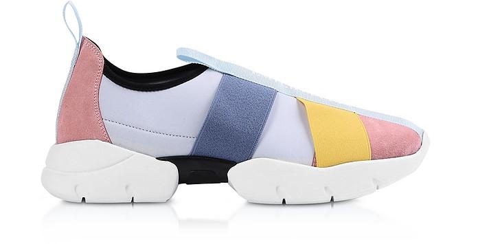 Multicolor Leather Signature Slip on Sneakers - Emilio Pucci