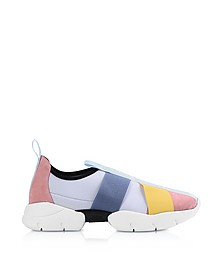 Multicolor Leather Signature Slip on Sneakers - Emilio Pucci
