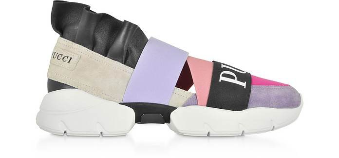 Color Block Ruffle Sneakers - Emilio Pucci
