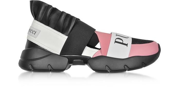 City Up Black Nylon Signature Sneakers - Emilio Pucci