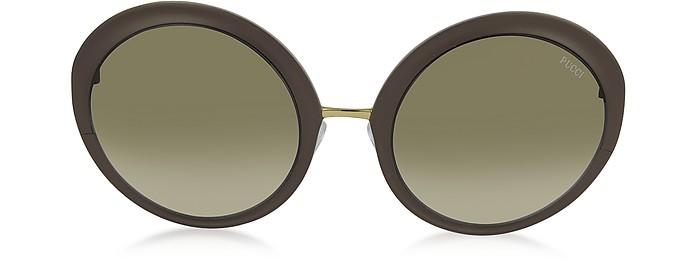 EP38 Large Oval Acetate Women's Sunglasses - Emilio Pucci