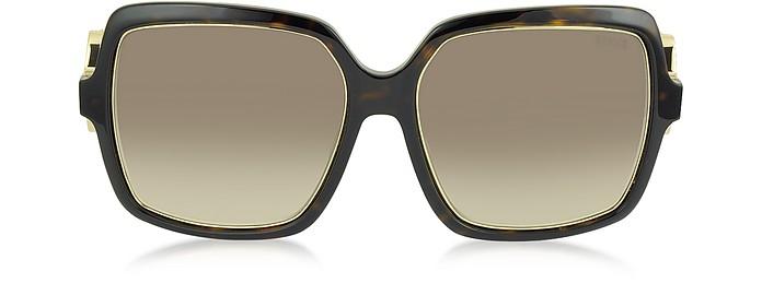 EP40 52F Large Square Acetate Women's Sunglasses - Emilio Pucci