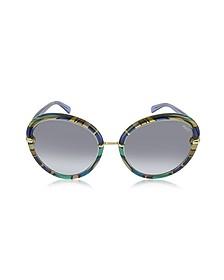 EP0012 Fantasy Acetate Round Sunglasses - Emilio Pucci