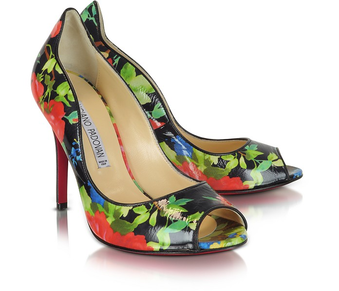 Floral Patent Peep-toe Pump  - Luciano Padovan