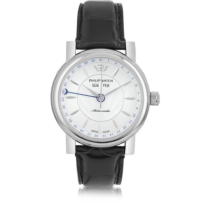 7c4b63625eaa Wales Heritage Reloj Automático para Hombre de Acero Inoxidable y Correa de  Cuero Negro - Philip