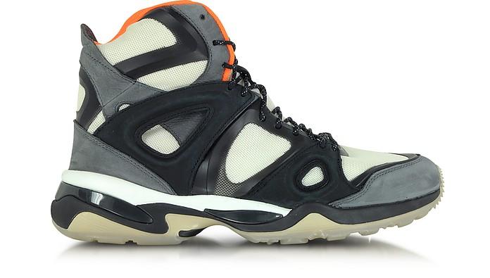 White Orange and Black McQ Run Mid Men's Sneaker