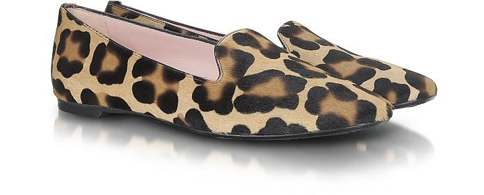 Faye - Leopard Print Pony-Hair Loafer - Pretty Ballerinas