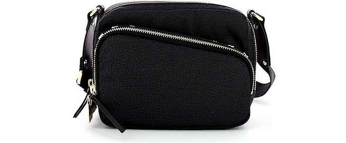 Black Small Front Pocket Camera Bag - Borbonese