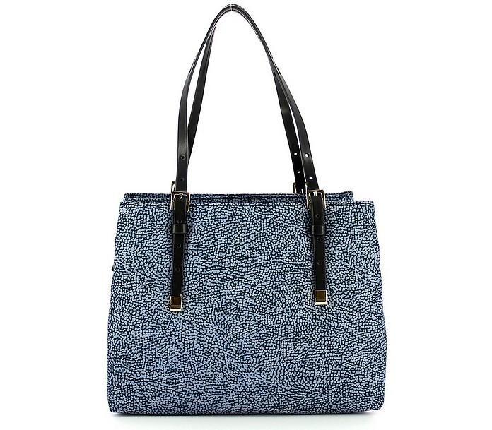 Blue Medium Shoulder Bag w/Strap - Borbonese