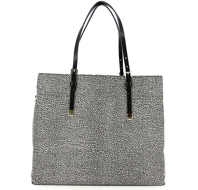 Brown Large Shopping Bag w/Shoulder Strap - Borbonese